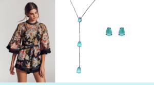 turmalina paraiba, roupa bordada, joias básicas, joias simples, semijoias com turmalina paraiba, milky turmalina paraiba
